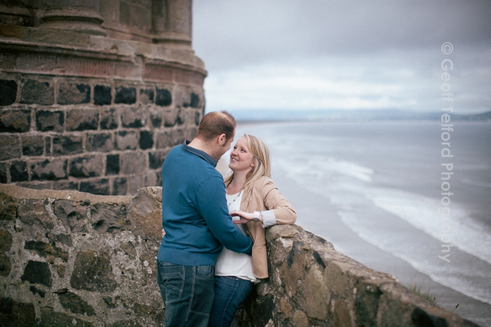 Mark and Elizabeth's Engagement Shoot - Mussenden Temple - Geoff Telford Photography